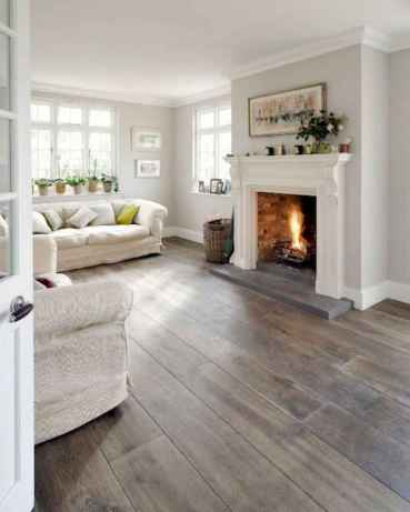 80 incridible rustic farmhouse fireplace ideas makeover (75)