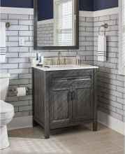 110 spectacular farmhouse bathroom decor ideas (104)