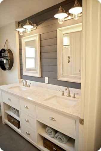 110 spectacular farmhouse bathroom decor ideas (25)