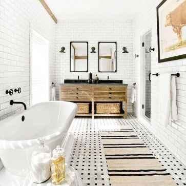 110 spectacular farmhouse bathroom decor ideas (59)