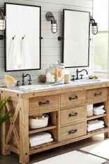 110 spectacular farmhouse bathroom decor ideas (8)