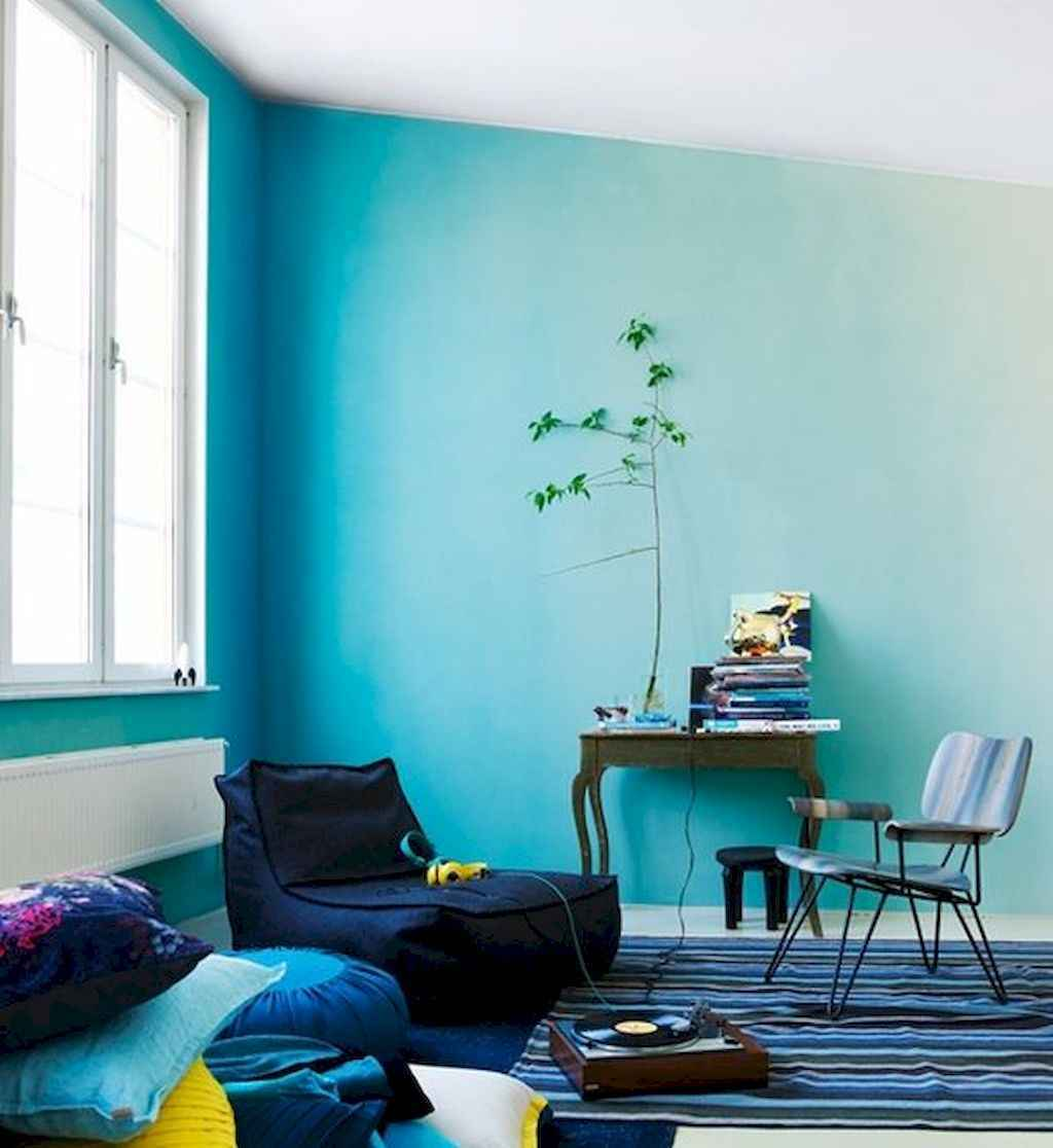 22 diy painted ombre wall for apsrtment decor ideas (4)