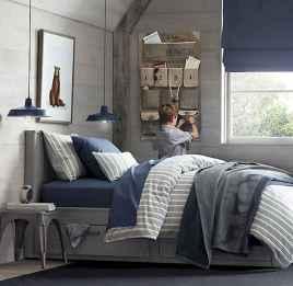 40 navy master bedroom decor ideas (20)