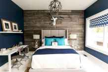 40 navy master bedroom decor ideas (21)