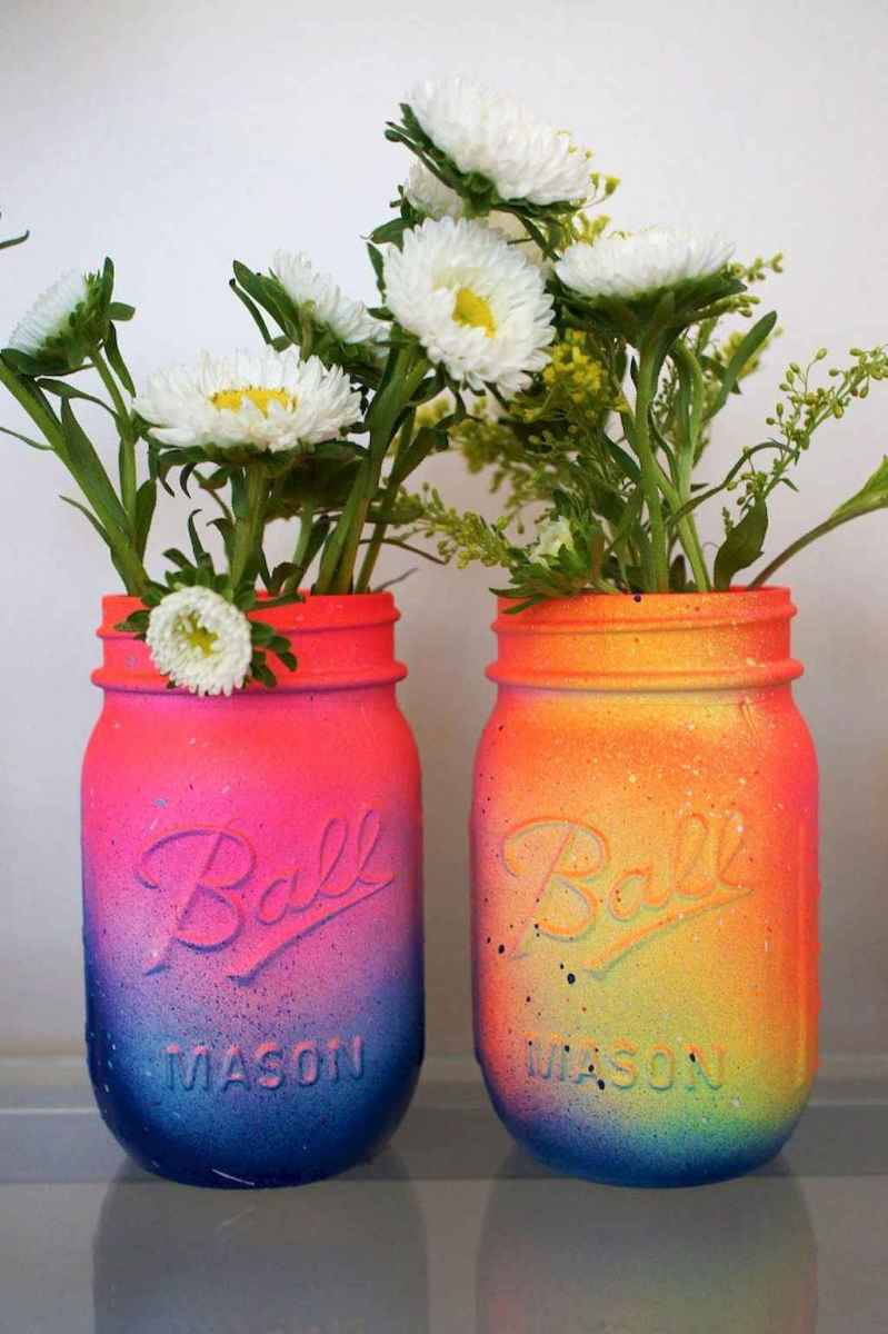 44 diy painted ombre vases crafts ideas on a budget (25)