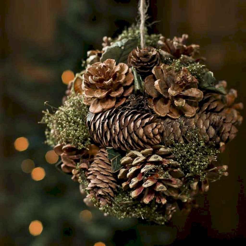 45 outdoor pine cones christmas decorations ideas (16)