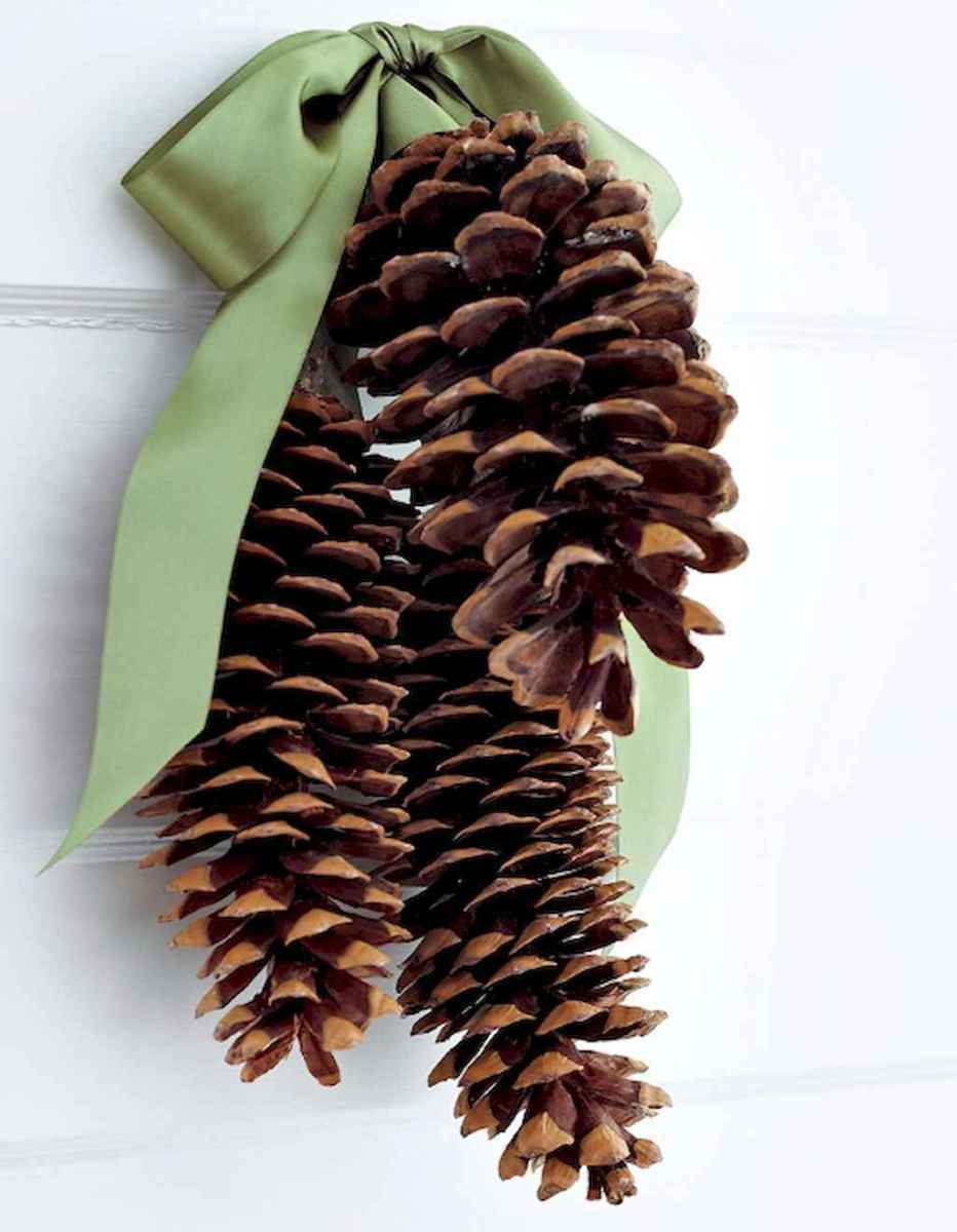 45 outdoor pine cones christmas decorations ideas (17)