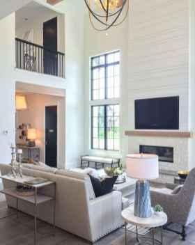 60 cool modern farmhouse living room decor ideas (17)