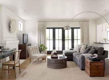 60 cool modern farmhouse living room decor ideas (23)