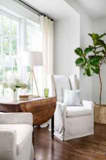 60 cool modern farmhouse living room decor ideas (3)