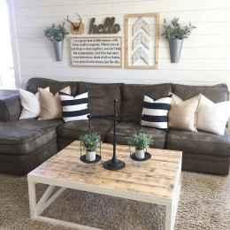 60 cool modern farmhouse living room decor ideas (46)