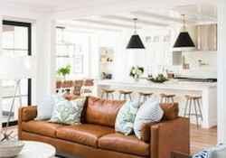 60 cool modern farmhouse living room decor ideas (55)