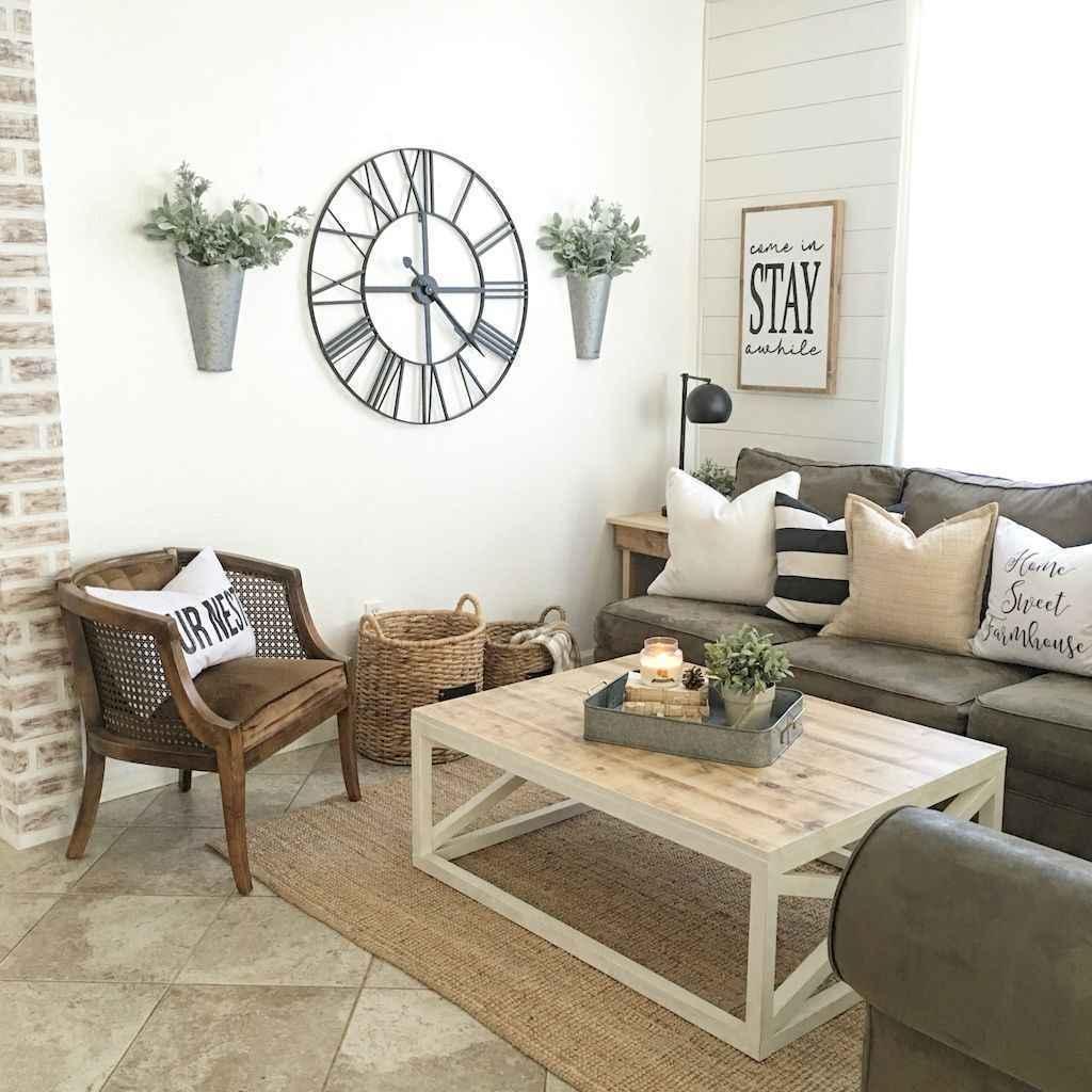 Cool Living Room Decorating Ideas: 60 Cool Modern Farmhouse Living Room Decor Ideas (58