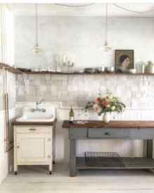 60 fancy farmhouse kitchen backsplash decor ideas (19)
