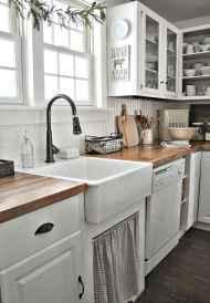60 fancy farmhouse kitchen backsplash decor ideas (20)