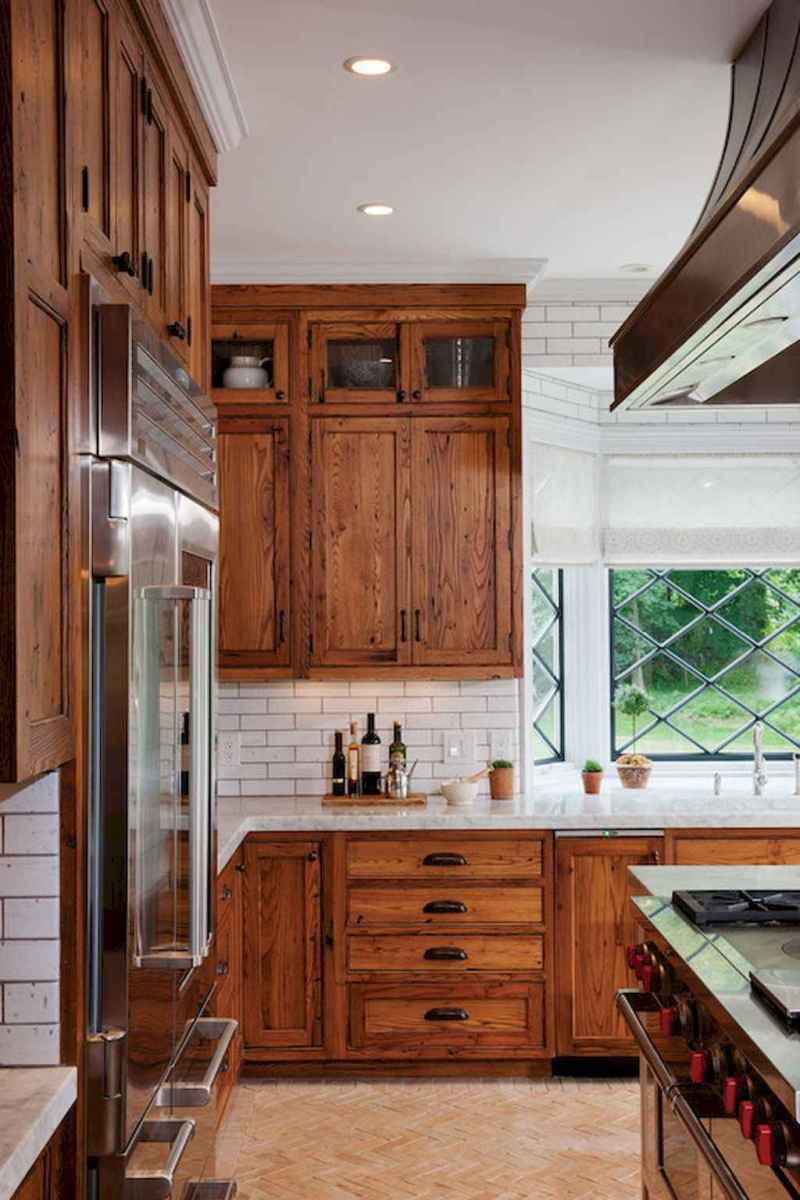 60 fancy farmhouse kitchen backsplash decor ideas (27)