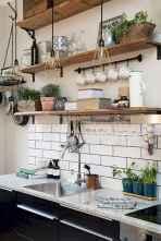 60 fancy farmhouse kitchen backsplash decor ideas (50)