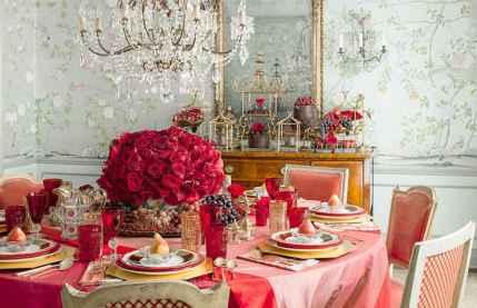 66 romantic valentines table settings decor ideas (3)