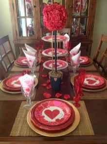 66 romantic valentines table settings decor ideas (40)