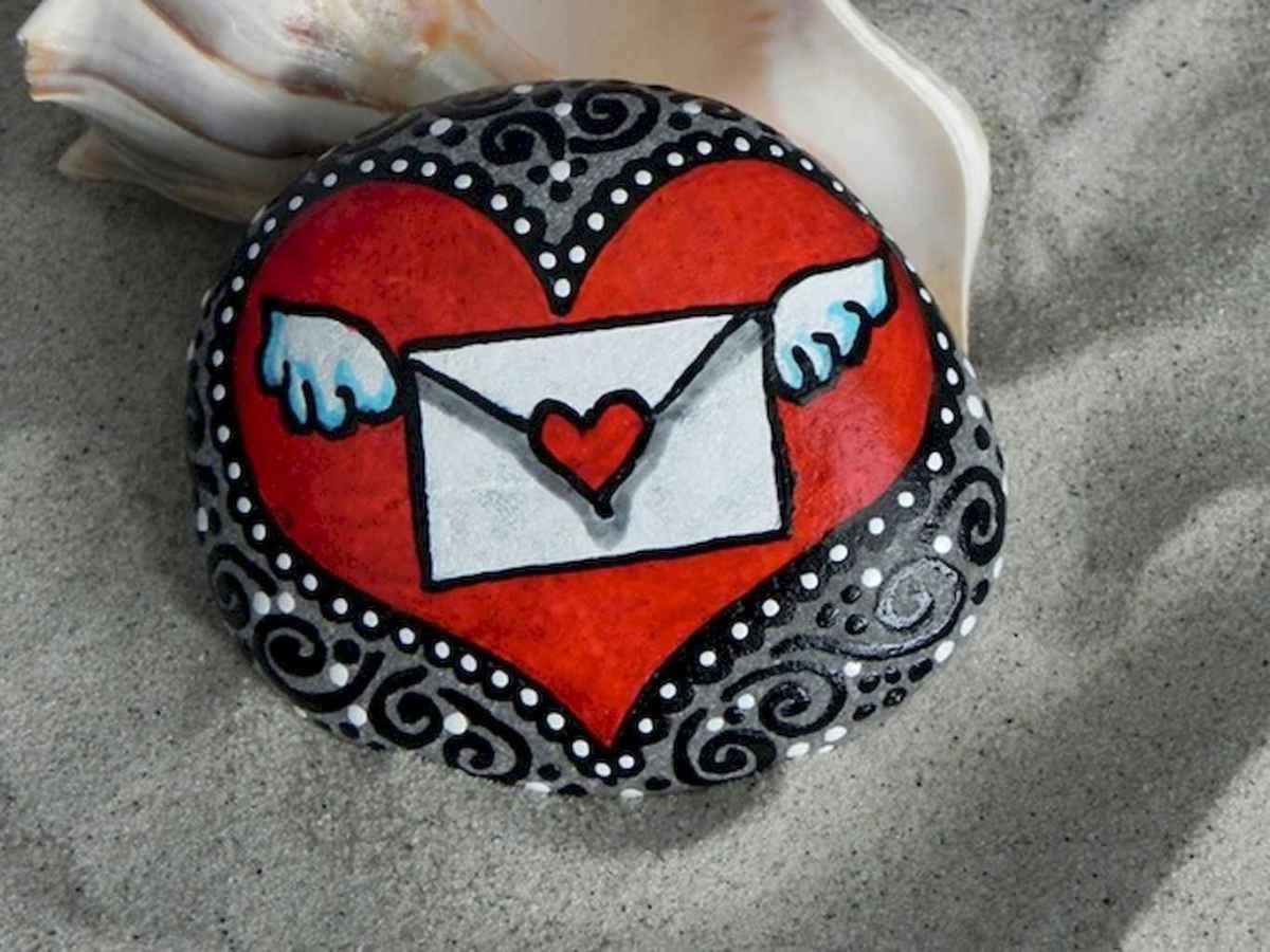 80 romantic valentine painted rocks ideas diy for girl (14)