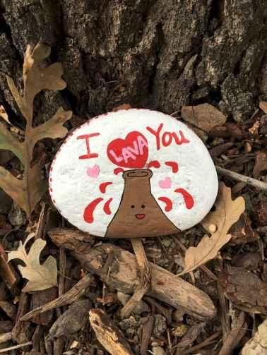 80 romantic valentine painted rocks ideas diy for girl (39)