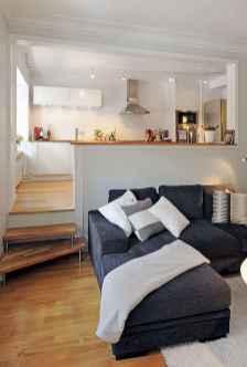 80 smart solution small apartment living room decor ideas (54)