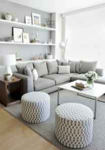 80 smart solution small apartment living room decor ideas (79)