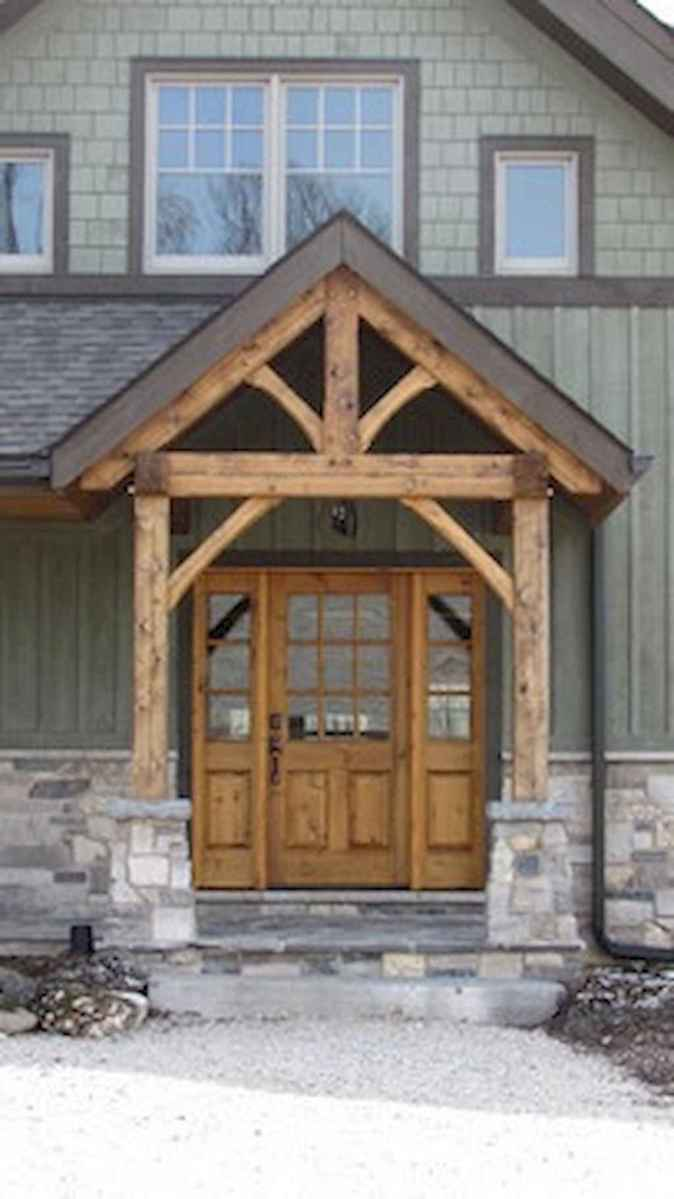 90 awesome front door farmhouse entrance decor ideas (34)
