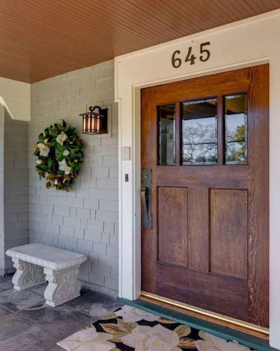90 Incredible Modern Farmhouse Exterior Design Ideas 12: 90 Awesome Front Door Farmhouse Entrance Decor Ideas (41