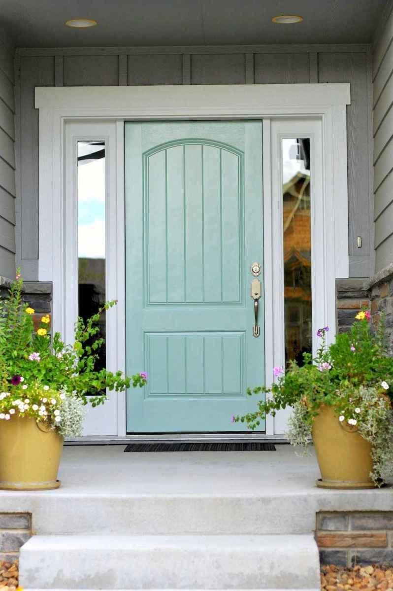 90 awesome front door farmhouse entrance decor ideas (70)