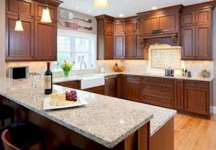 100 best oak kitchen cabinets ideas decoration for farmhouse style (27)