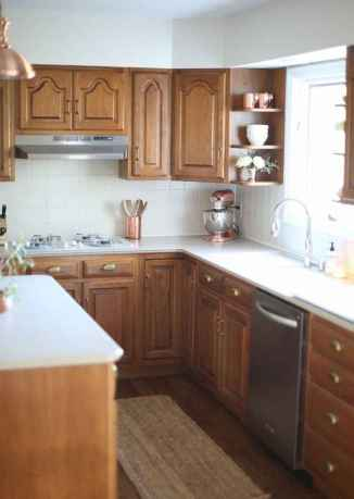 100 best oak kitchen cabinets ideas decoration for farmhouse style (50)