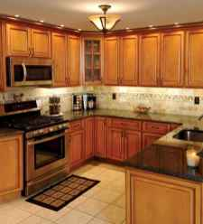 100 best oak kitchen cabinets ideas decoration for farmhouse style (97)
