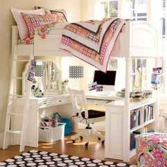 100+ cute loft beds college dorm room design ideas for girl (101)