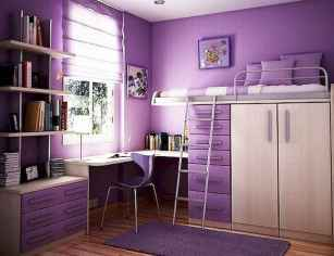 100+ cute loft beds college dorm room design ideas for girl (19)