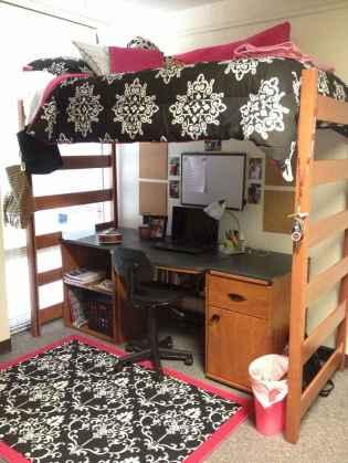 100+ cute loft beds college dorm room design ideas for girl (25)