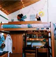 100+ cute loft beds college dorm room design ideas for girl (37)