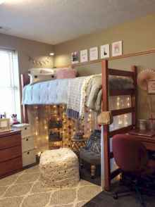 100+ cute loft beds college dorm room design ideas for girl (41)