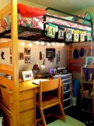 100+ cute loft beds college dorm room design ideas for girl (42)