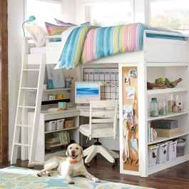 100+ cute loft beds college dorm room design ideas for girl (48)