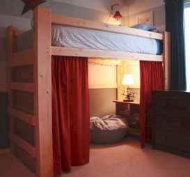 100+ cute loft beds college dorm room design ideas for girl (68)
