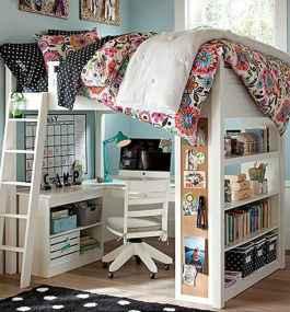 100+ cute loft beds college dorm room design ideas for girl (7)