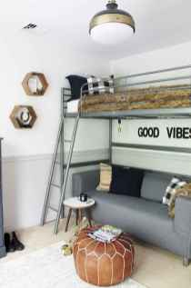 100+ cute loft beds college dorm room design ideas for girl (70)