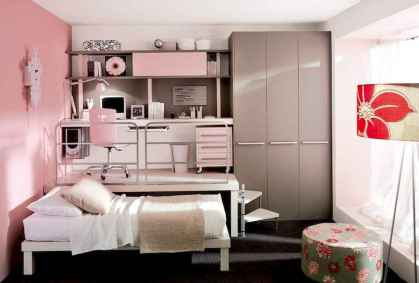 100+ cute loft beds college dorm room design ideas for girl (73)
