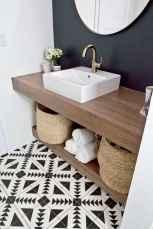 50 best farmhouse bathroom tile remodel ideas (41)