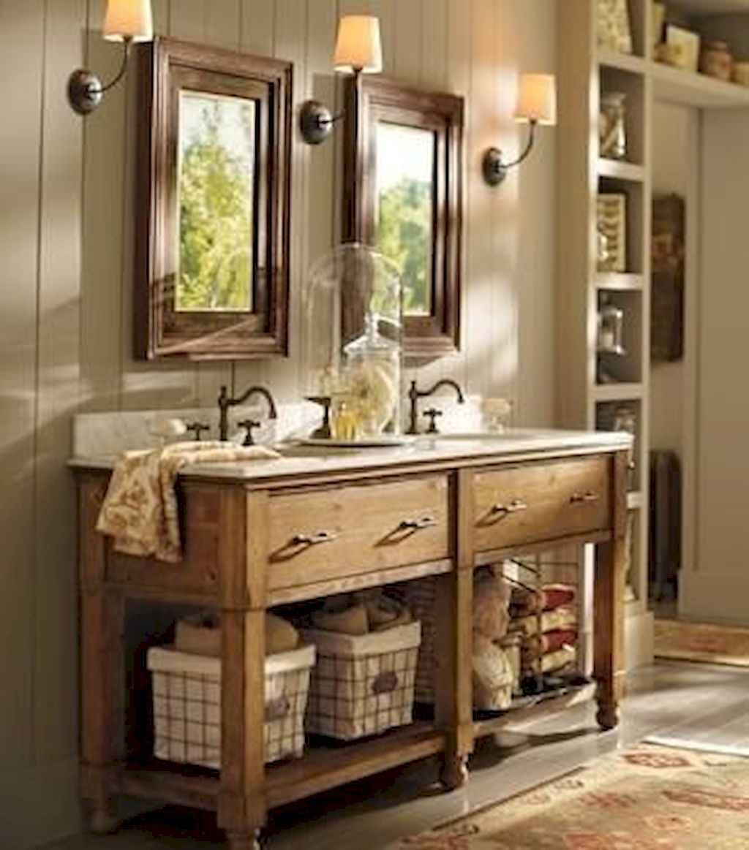 50 best farmhouse bathroom vanity remodel ideas (54)