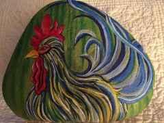 50 easy diy chicken painted rocks ideas (13)