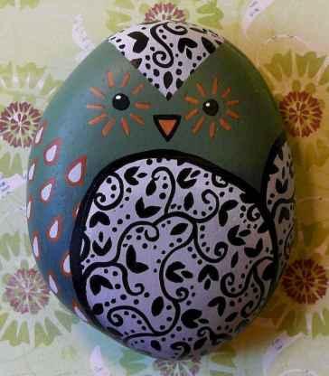 50 easy diy chicken painted rocks ideas (25)