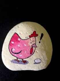 50 easy diy chicken painted rocks ideas (29)