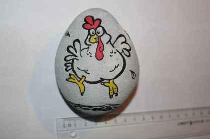 50 easy diy chicken painted rocks ideas (30)